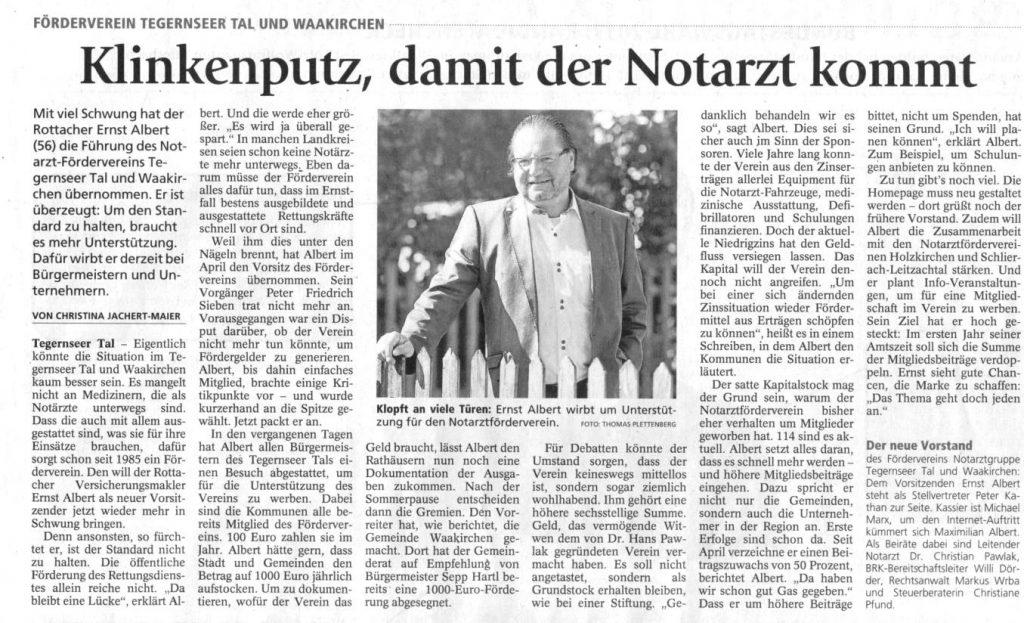 Zeitungsartikel-Klinkenputz-damit-der-Notarzt-kommt-blackwhite