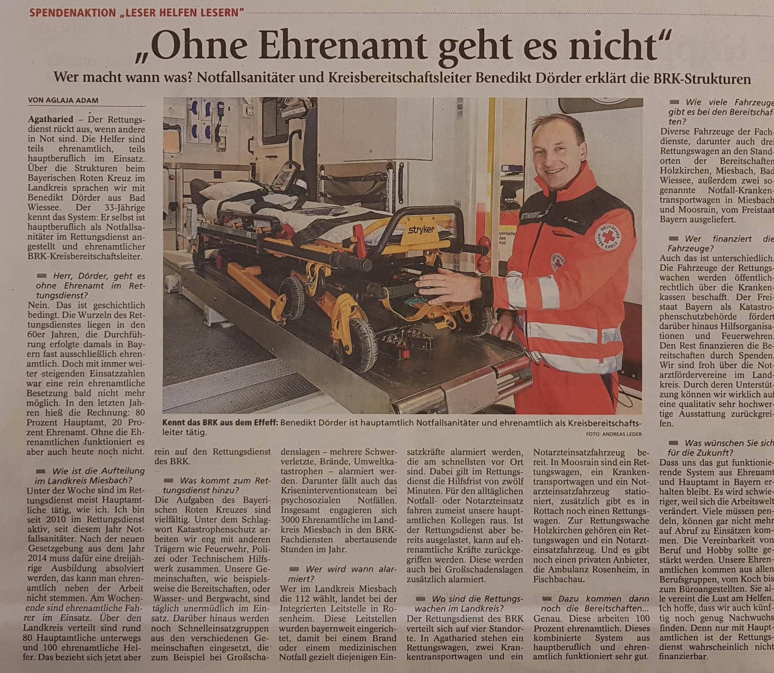 Zeitungsartikel - Ohne Ehrenamt geht es nicht2