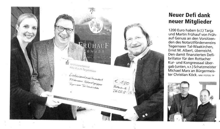 Zeitungsartikel-Spende-Frühauf-Genuss-blackwhite