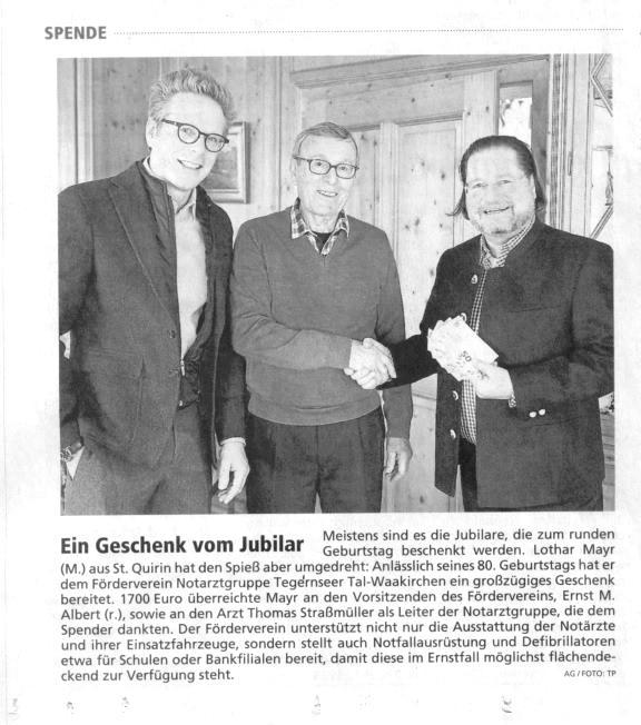 Zeitungsartikel-Spende-Geburtstag-blackwhite